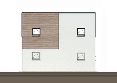 troglo village concepthuis gevel noord