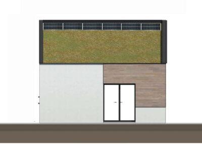 troglo village concepthuis gevel zuid